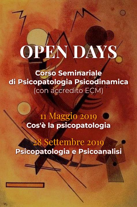 OPEN DAYS Corso Seminariale di Psicopatologia Psicodinamica